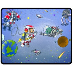 Interplanetary High Five/three Fleece Blanket (medium) by Contest1732250