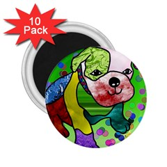 Pug 2 25  Button Magnet (10 Pack)