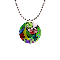 Pug Button Necklace by Siebenhuehner
