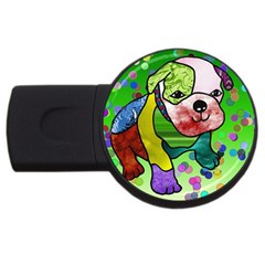 Pug 4gb Usb Flash Drive (round) by Siebenhuehner