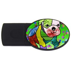 Pug 4gb Usb Flash Drive (oval) by Siebenhuehner
