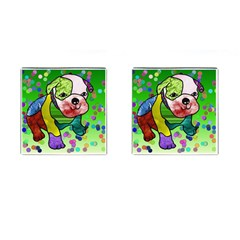 Pug Cufflinks (square) by Siebenhuehner