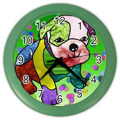 Pug Wall Clock (color) by Siebenhuehner
