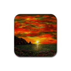 Alyssa s Sunset By Ave Hurley Artrevu   Rubber Coaster (square) by ArtRave2