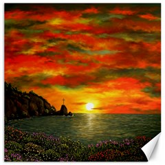 Alyssa s Sunset By Ave Hurley Artrevu   Canvas 16  X 16  by ArtRave2