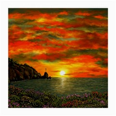 Alyssa s Sunset By Ave Hurley Artrevu   Medium Glasses Cloth (2 Sides) by ArtRave2