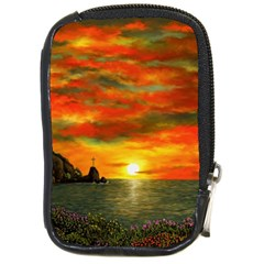 Alyssa s Sunset By Ave Hurley Artrevu   Compact Camera Leather Case