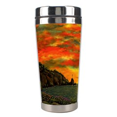 Alyssa s Sunset By Ave Hurley Artrevu   Stainless Steel Travel Tumbler