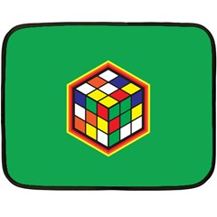 Rubik s Cube Mini Fleece Blanket (two Sided) by Contest1630545