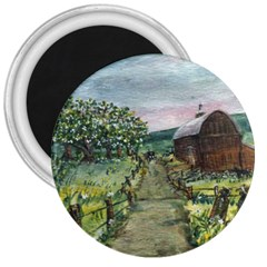 amish Apple Blossoms  By Ave Hurley Of Artrevu   3  Magnet by ArtRave2