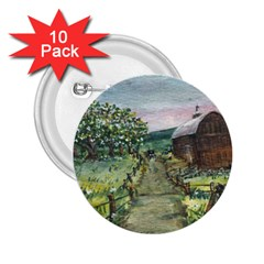 amish Apple Blossoms  By Ave Hurley Of Artrevu   2 25  Button (10 Pack)