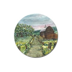 amish Apple Blossoms  By Ave Hurley Of Artrevu   Magnet 3  (round)