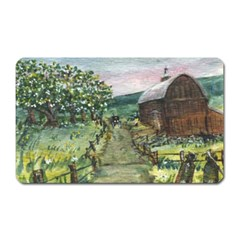 amish Apple Blossoms  By Ave Hurley Of Artrevu   Magnet (rectangular) by ArtRave2