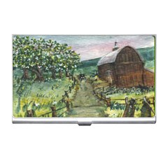 amish Apple Blossoms  By Ave Hurley Of Artrevu   Business Card Holder