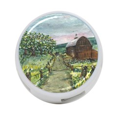 amish Apple Blossoms  By Ave Hurley Of Artrevu   4 Port Usb Hub (one Side)