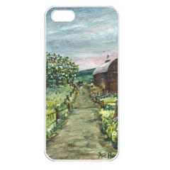 amish Apple Blossoms  By Ave Hurley Of Artrevu   Apple Iphone 5 Seamless Case (white) by ArtRave2