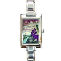 Jesus Overlooking Jerusalem   Ave Hurley   Artrave   Rectangular Italian Charm Watch by ArtRave2