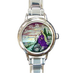 Jesus Overlooking Jerusalem   Ave Hurley   Artrave   Round Italian Charm Watch by ArtRave2