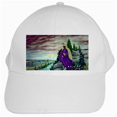 Jesus Overlooking Jerusalem   Ave Hurley   Artrave   White Baseball Cap by ArtRave2