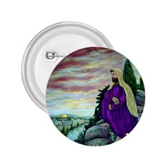 Jesus Overlooking Jerusalem - Ave Hurley - Artrave - 2 25  Button by ArtRave2