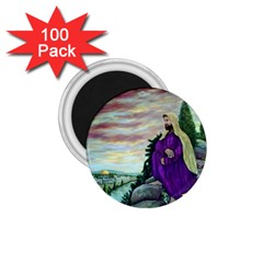 Jesus Overlooking Jerusalem   Ave Hurley   Artrave   1 75  Button Magnet (100 Pack) by ArtRave2