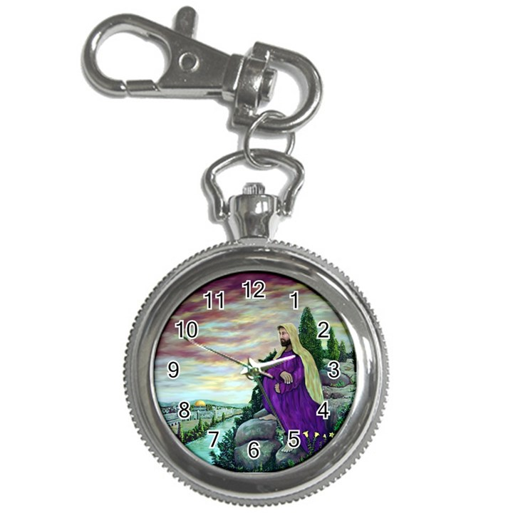 Jesus Overlooking Jerusalem - Ave Hurley - ArtRave - Key Chain & Watch