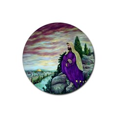Jesus Overlooking Jerusalem   Ave Hurley   Artrave   Drink Coasters 4 Pack (round)