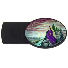 Jesus Overlooking Jerusalem   Ave Hurley   Artrave   4gb Usb Flash Drive (oval) by ArtRave2