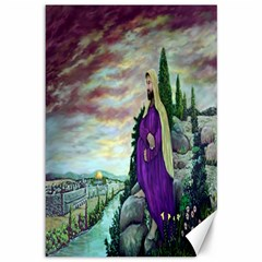 Jesus Overlooking Jerusalem   Ave Hurley   Artrave   Canvas 12  X 18  (unframed) by ArtRave2