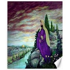 Jesus Overlooking Jerusalem   Ave Hurley   Artrave   Canvas 16  X 20  (unframed) by ArtRave2