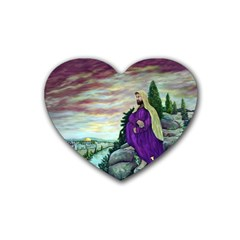 Jesus Overlooking Jerusalem   Ave Hurley   Artrave   Drink Coasters 4 Pack (heart)  by ArtRave2