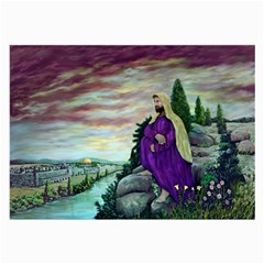 Jesus Overlooking Jerusalem - Ave Hurley - Artrave - Glasses Cloth (large, Two Sided) by ArtRave2