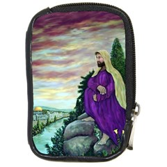 Jesus Overlooking Jerusalem - Ave Hurley - Artrave - Compact Camera Leather Case by ArtRave2