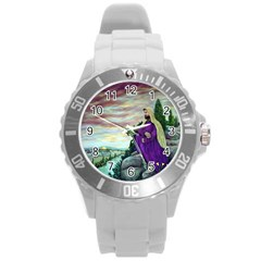 Jesus Overlooking Jerusalem   Ave Hurley   Artrave   Plastic Sport Watch (large) by ArtRave2