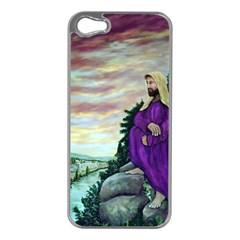 Jesus Overlooking Jerusalem   Ave Hurley   Artrave   Apple Iphone 5 Case (silver) by ArtRave2