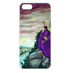 Jesus Overlooking Jerusalem - Ave Hurley - Artrave - Apple Iphone 5 Seamless Case (white) by ArtRave2