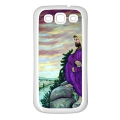 Jesus Overlooking Jerusalem - Ave Hurley - Artrave - Samsung Galaxy S3 Back Case (white) by ArtRave2