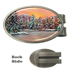 jane s Winter Sunset   By Ave Hurley Of Artrevu   Money Clip (oval) by ArtRave2