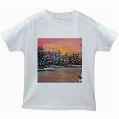 jane s Winter Sunset   By Ave Hurley Of Artrevu   Kids White T-shirt by ArtRave2