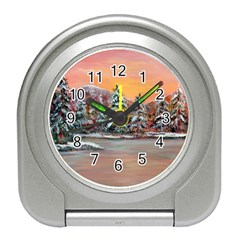 jane s Winter Sunset   By Ave Hurley Of Artrevu   Travel Alarm Clock by ArtRave2