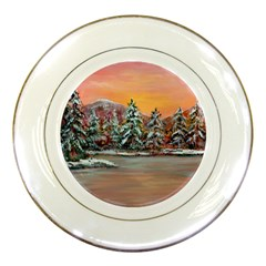 jane s Winter Sunset   By Ave Hurley Of Artrevu   Porcelain Plate by ArtRave2