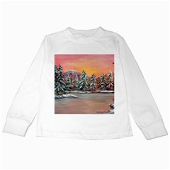 jane s Winter Sunset   By Ave Hurley Of Artrevu   Kids Long Sleeve T Shirt by ArtRave2