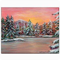 jane s Winter Sunset   By Ave Hurley Of Artrevu   Canvas 8  X 10  by ArtRave2