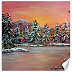 jane s Winter Sunset   By Ave Hurley Of Artrevu   Canvas 12  X 12  by ArtRave2