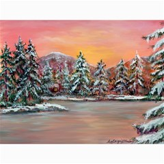 jane s Winter Sunset   By Ave Hurley Of Artrevu   Canvas 12  X 16  by ArtRave2