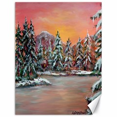 jane s Winter Sunset   By Ave Hurley Of Artrevu   Canvas 18  X 24  by ArtRave2