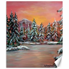 jane s Winter Sunset   By Ave Hurley Of Artrevu   Canvas 20  X 24  by ArtRave2