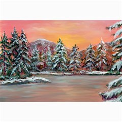 jane s Winter Sunset   By Ave Hurley Of Artrevu   Canvas 20  X 30  by ArtRave2