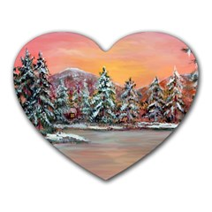 jane s Winter Sunset   By Ave Hurley Of Artrevu   Heart Mousepad by ArtRave2