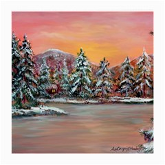 jane s Winter Sunset   By Ave Hurley Of Artrevu   Medium Glasses Cloth (2 Sides) by ArtRave2